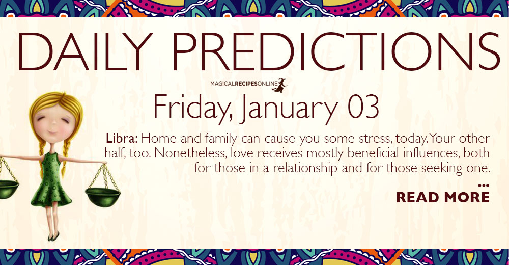 Daily Predictions for Friday 3 January 2020