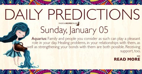 Daily Predictions for Sunday 5 January 2020