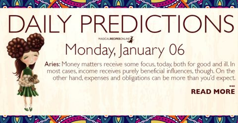 Daily Predictions for Monday 6 January 2020