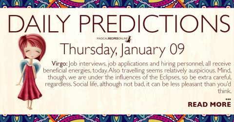 Daily Predictions for Thursday 9 January 2020