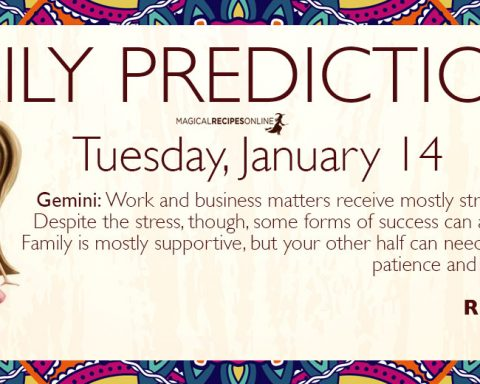 Daily Predictions for Tuesday 14 January 2020