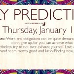 Daily Predictions for Thursday 16 January 2020
