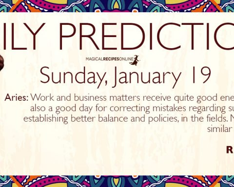 Daily Predictions for Sunday 19 January 2020