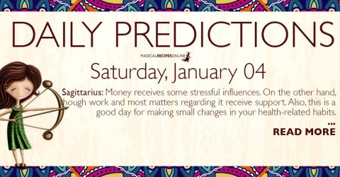 Daily Predictions for Saturday 4 January 2020