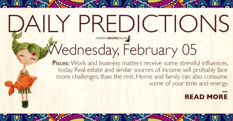 Daily Predictions for Wednesday 05 February 2020