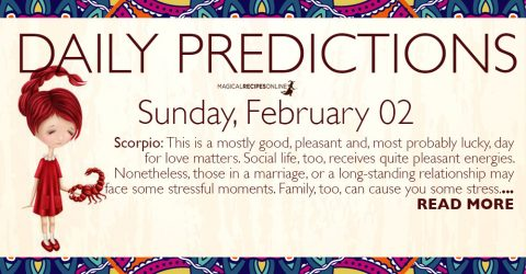 Daily Predictions for Sunday 02 February 2020