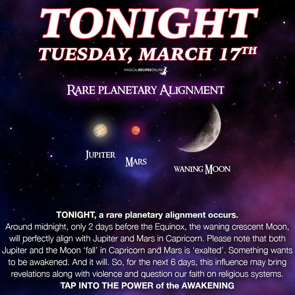 Rare planetary Alignment