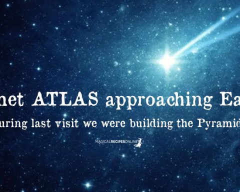 Bright Comet ATLAS approaching Earth - during last visit we built Pyramids