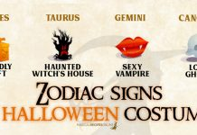 Zodiac Signs as Halloween Costume