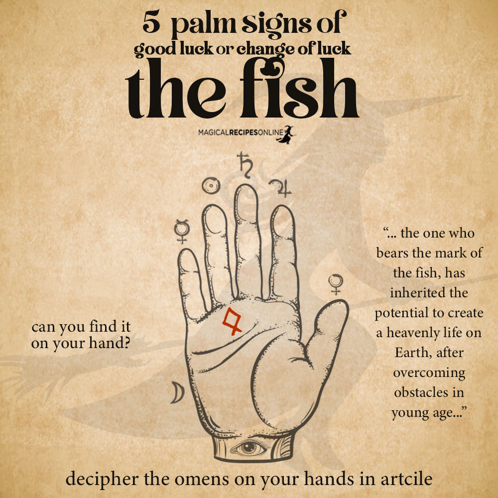 fish sign palmistry - lucky signs