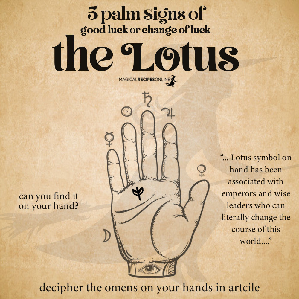 lotus sign palmistry - Palm signs of Good Luck