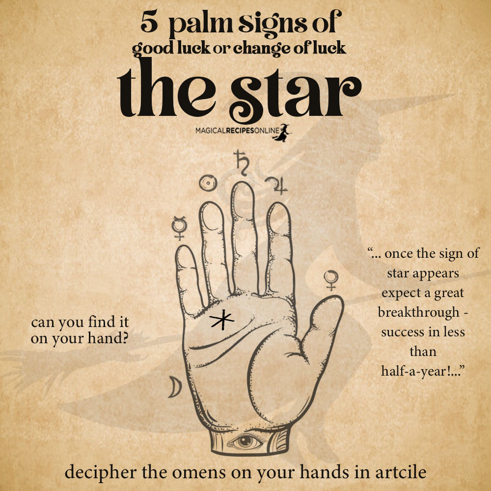 star sign palmistry - lucky signs