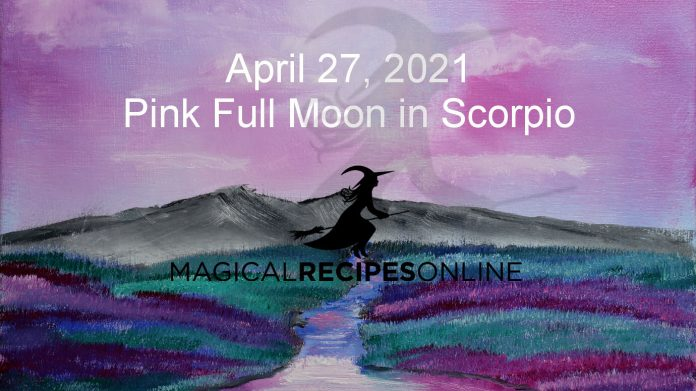 Pink Full Moon in Scorpio