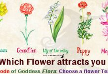 Code of Goddess Flora - Choose a Flower Test